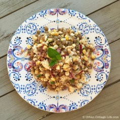 Lentil, Corn & Cauliflower Salad | © Urban Cottage Life.com
